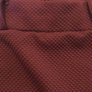 Skirts - Wine Red Quilted Pencil Skirt
